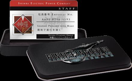 FINAL FANTASY VII REMAKE SHINRA ELECTRIC POWER COMPANY ID W// TIN